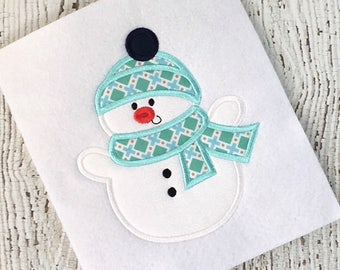 snowman applique - holiday applique - Christmas applique - applique design - snowman embroidery - holiday embroidery - Christmas embroidery