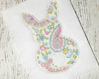 Bunny Applique Design - Easter Applique Design - Raggy Bunny Applique Design - Spring Applique Design - Rabbit Applique Design