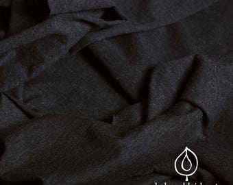 Organic jersey Black Heather Uni