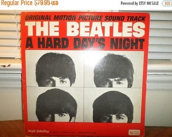 Save 30% Today Vintage 1964 LP Record The Beatles A Hard Days Night United Artists Mono Version Excellent Condition 12929