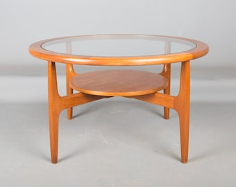 Mid century Teak coffee Table with glass insert retro G Plan Astro style