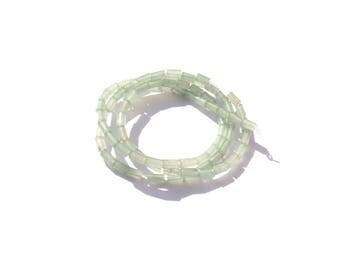 Green aventurine: 10 MICRO tubes 3 mm in diameter x 5 mm in length