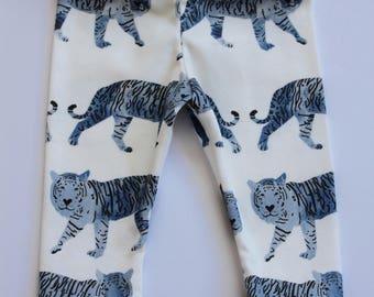 organic baby leggings . tiger leggings . organic toddler leggings . baby leggings in tiger print . organic baby clothing . girl or boy pants