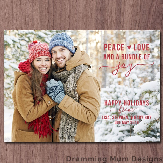 christmas cards to announce pregnancy