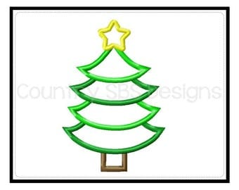 Tiered Christmas Embroidery Design -INSTANT DOWNLOAD-