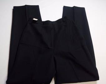 Vintage Deadstock Womens Slacks Pants Panther Black Dress Pants Size 14 READ MEASUREMENTS ILGWU Label Goldwaters Store