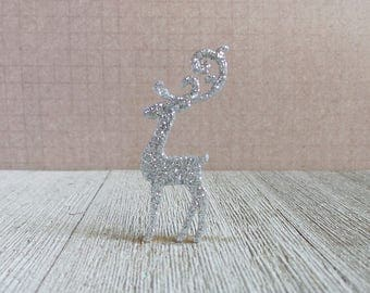 Reindeer - Fancy Reindeer - Christmas - Silver - Lapel Pin