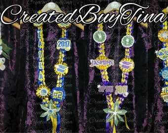 PERSONALIZED Braided Ribbon MONEY LEI Graduation/Prom/Wedding/Celebration Lei *made to order*