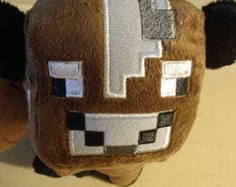 6 inch Minecraft Cow Plush