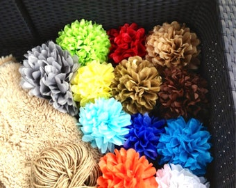 set of 30 tissue paper pom poms-party poms-birthday pompoms-hanging pom poms-wedding decor-party decor-wedding reception-poms