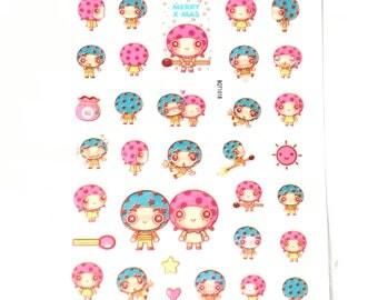 Monkey Sticker Sheet