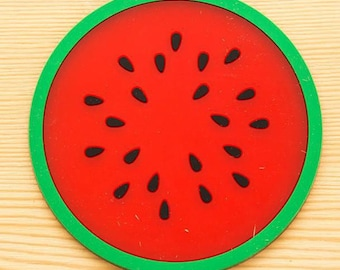 X 1 cup silicone watermelon slice below