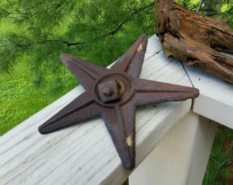Antique Cast Iron 5 Point Masonry Star with Anchor