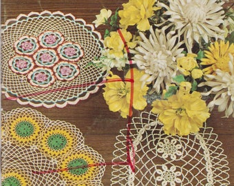 Crochet Tatting Booklet Priscilla Doilies Coats Clark 174 Doily Patterns Vintage 1967