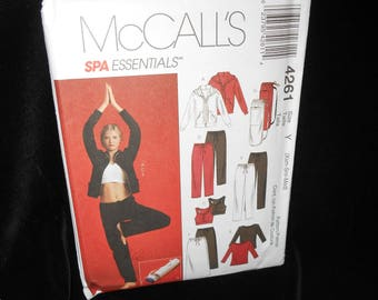 Misses Spa Essentials McCalls 4261 Womens Extra Small-Medium Jacket Tops Pants Skirt Bag