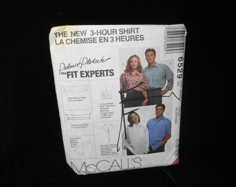 Mens Teen Boys Shirt McCalls 6529 Palmer Pletsch Misses Womens Shirts Size XXL 46 48
