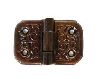 Victorian Flush Mount Aged Bronze Finish Small Flap Hinge Cabinet Hardware 2″ L
