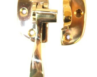 Ice Box Latch Solid Brass LEFT Hand for Oak Old Refrigerator Antique Reproduction