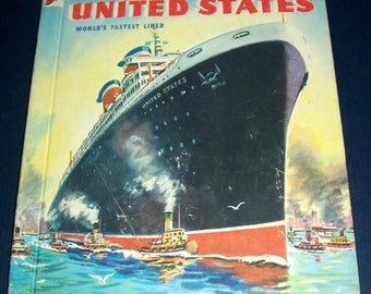 1954 SS United States children's book