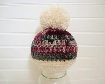 Baby Pom Pom Hat, Baby Christmas Hat, Pom Pom Hat, Photo Prop hat, Newborn Pom Pom Hat, Hospital Hat, Coming Home Hat, Christmas Hat