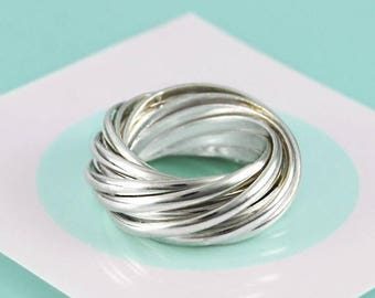 ON SALE NOW Chunky Silver Ring, Russian Wedding Ring, Sterling Silver Ring, Statement Silver Ring, 925 Silver Band Ring, Ring for Women, Gif