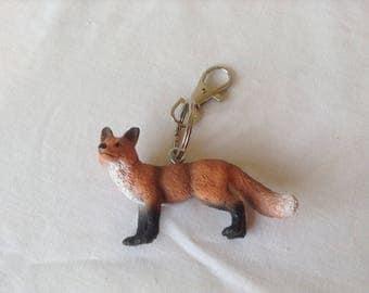Fox keyring keychain bag charm