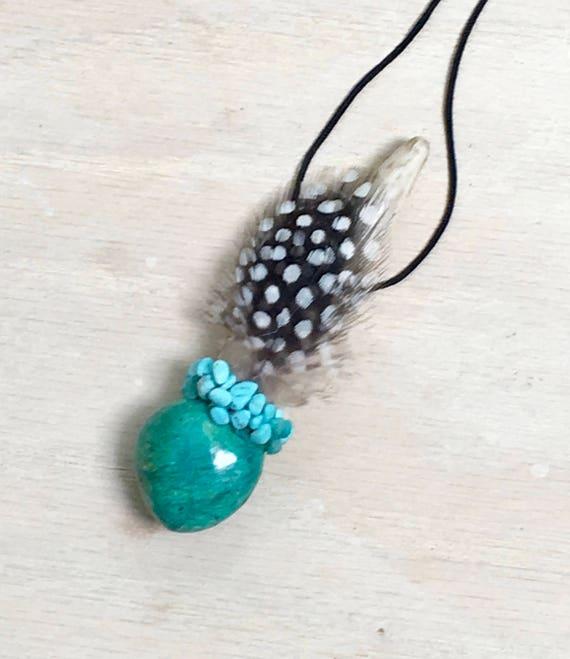 Deer Antler, Chrysocolla, Turquoise Traveling Wand, OOAK, Healing Pendant, Native American Reiki, Heart Chakra, Guilt