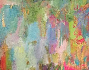 Abstract Painting Original Fine Art Modern Acrylic 9 x 12 Wall Art Colorful Home Decor