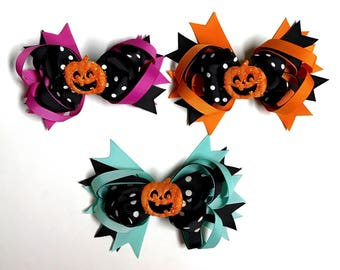Happy Pumpkin Hair Clip