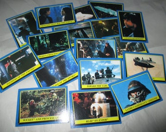 lot of 17 Star Wars Return of the Jedi Topps Star Quiz  cards