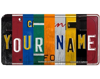 WOODEN LICENSE PLATE Personalized Wooden Mini License Plate / Any Name / Any State / Province / Team Any Text