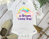 Rainbow Baby onesie®, A Dream Come True, Some Things are Worth the Wait, Special Baby Gift, Rainbow Shower Gift, Rainbow Baby Gift, Rainbow