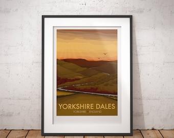 Yorkshire Dales, Yorkshire, England - signed travel poster print