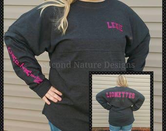 Cheerleader Jersey Shirt / High School Dance Team Shirts / Cheer Spirit Jersey/ Dance Shirt