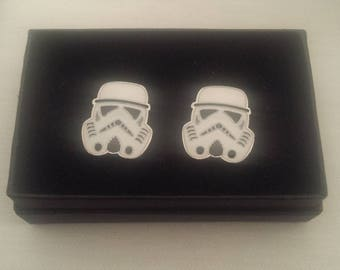 Star Wars Inspired STORM TROOPER Cuff Links Boxed