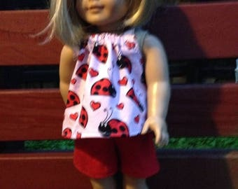 """WEEKEND SALE Classic Red Ladybug outfit for American Girl Outfit 18"""" Dolls"""