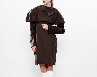 Dresses On Sale Linen Dress, Brown Dress, Black  Dress, Fashion Dress, Avant Garde Dress, Fitted Dress, Long Sleeve Dress, Linen Clothing, T