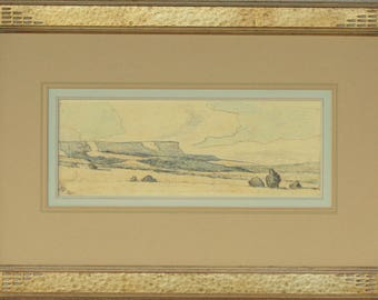 Maynard Dixon, Arizona Desert 1941, Original Drawing