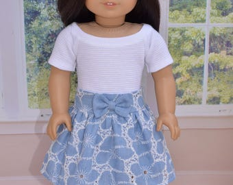 Top and Skirt for 18 inch dolls  like American Girl .