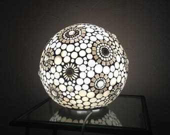 To order. This one is reserved. Lamp ball vanity glass stained glass mosaic