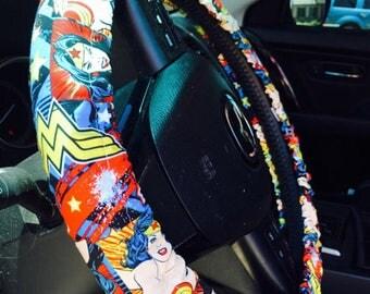 Steering Wheel Cover Wonder Woman Superhero Gift for Her