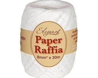 8 mm white raffia Ribbon