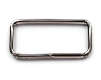 2-3 cm rectangle shape silver metal buckle