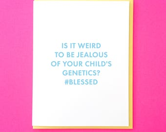 Baby Shower Card. Funny New Baby Card. Friend Baby Card. New Baby Card. Best Friend Card. Pregnancy Card. Funny Pregnant Card