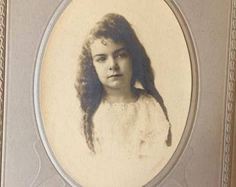 Vintage Cabinet Photograph - Beautiful Identified Girl