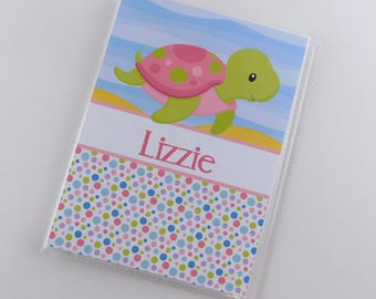 Girl Photo Album Sea Turtle 4x6 or 5x7 Picture Baby Gift Grandmas Brag Book Personalized Custom Shower Under the Sea 846