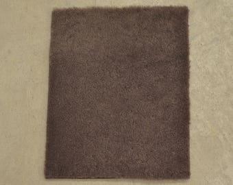 "Milk Chocolate Shearling Hide Wool 8"" x 10"" Project Piece TA-55907 (Sec. 1,Shelf 5,D)"