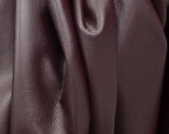 "Divine Dark Red Wine ""Signature"" 23 Square Foot 2 1/2 ounces Leather Cow side BR-63686 (Sec. 9,Shelf 2,A)"