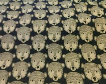 Small - Medium Bears on blue Bespoke cotton/poly Fleece Custom Dog Pyjamas, Jumpsuit, Playsuit Onesie w organic cotton/hemp cuffs
