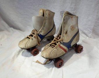 Roller Skates, Vintage Roller Derby Skates, Size 7, Retro Mid Century Salvage